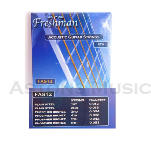 Freshman Acoustic  Guitar Strings Bronze Wound Set  012 - 053